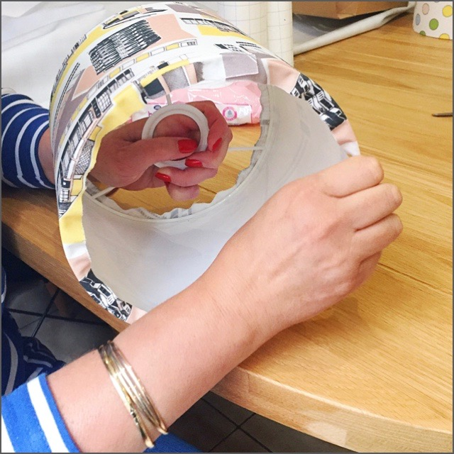 A little 1-2-1 lampshade making workshop