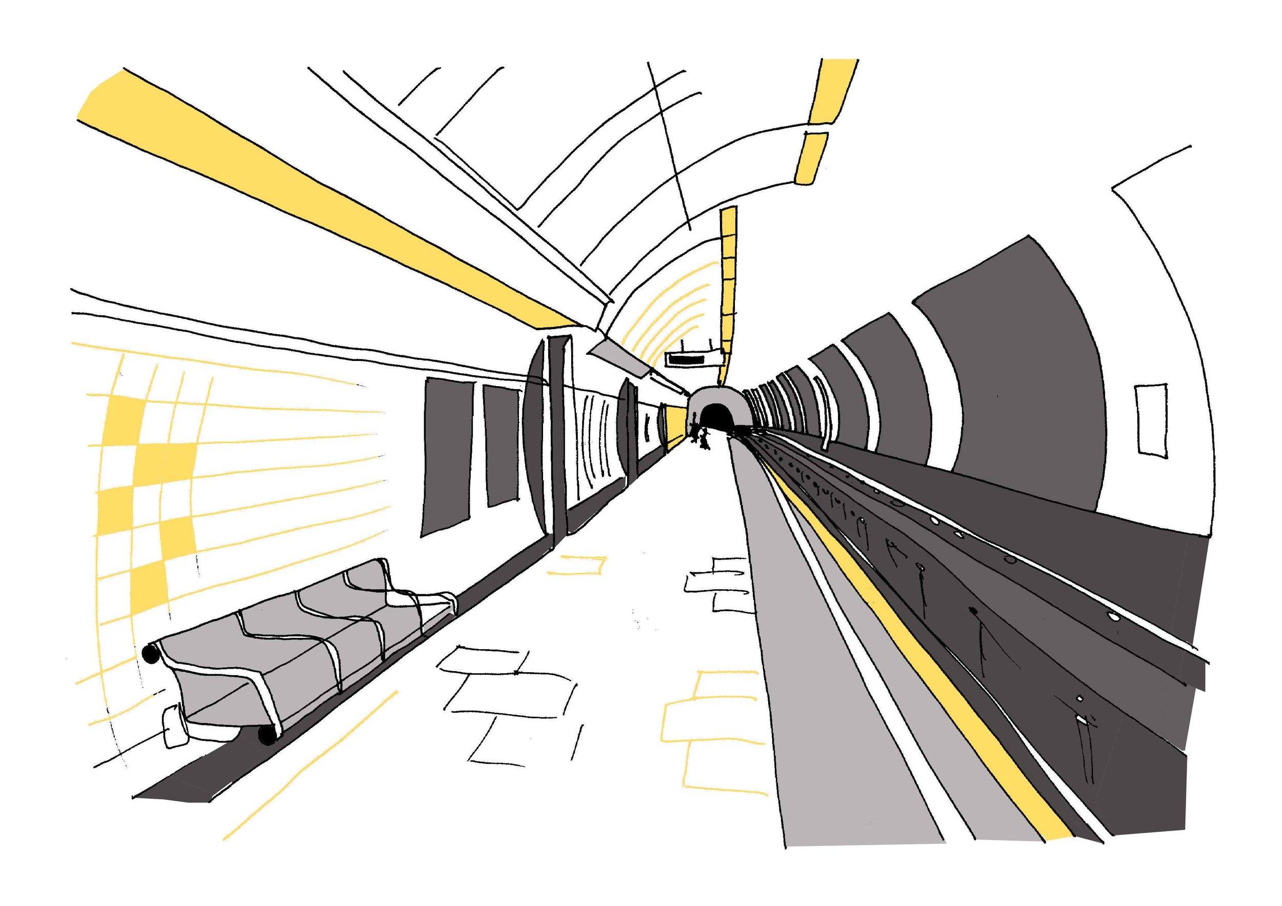 Q is for  Queensway Underground Station