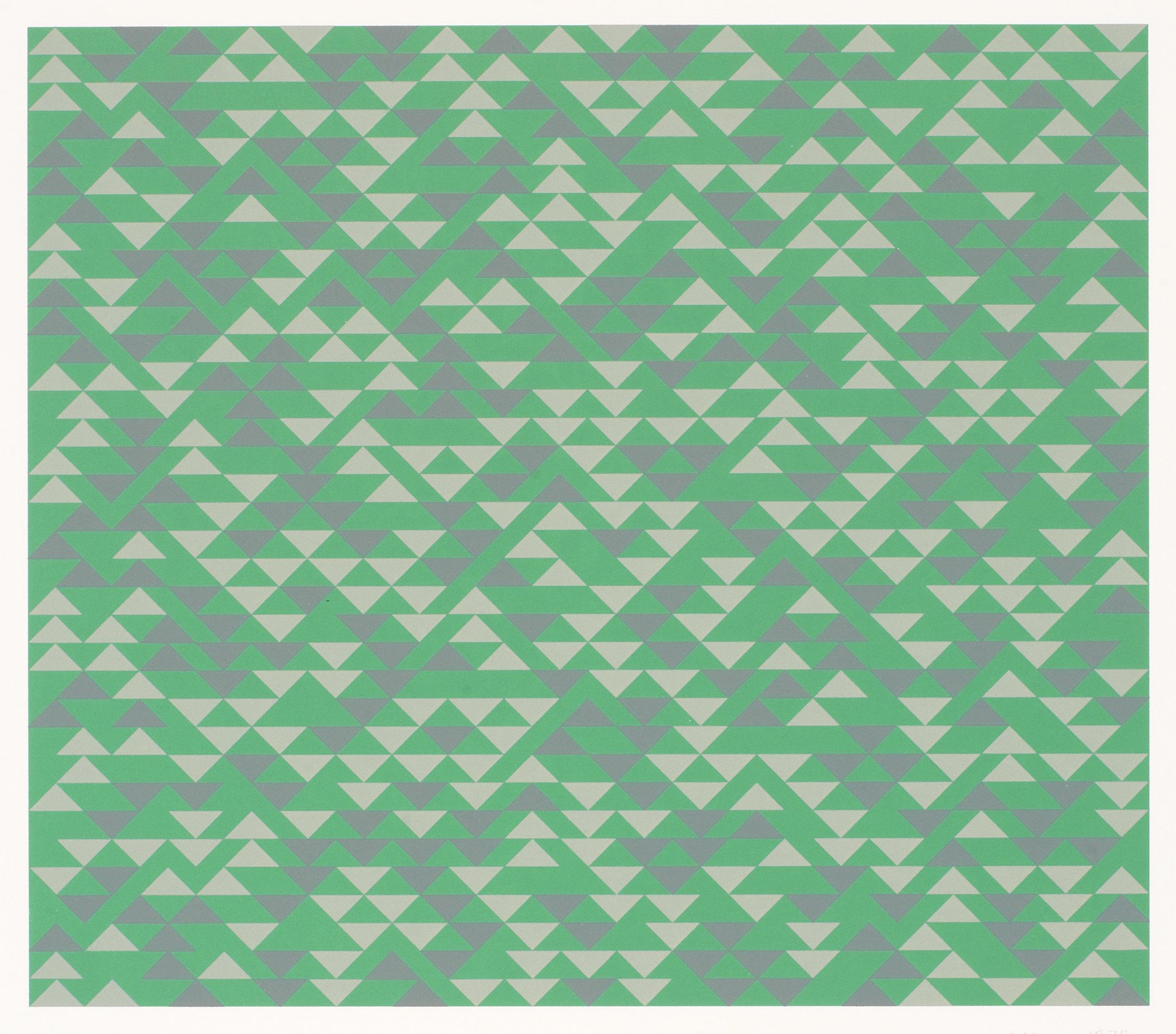 Anni Albers   TR II  1970, Lithograph, 50.5 x 55.6 cm, The Josef and Anni Albers Foundation, Bethany CT © 2018 The Josef and Anni Albers Foundation/Artists Rights Society (ARS), New York/DACS, London, Photo: Tim Nighswander/Imaging4Art