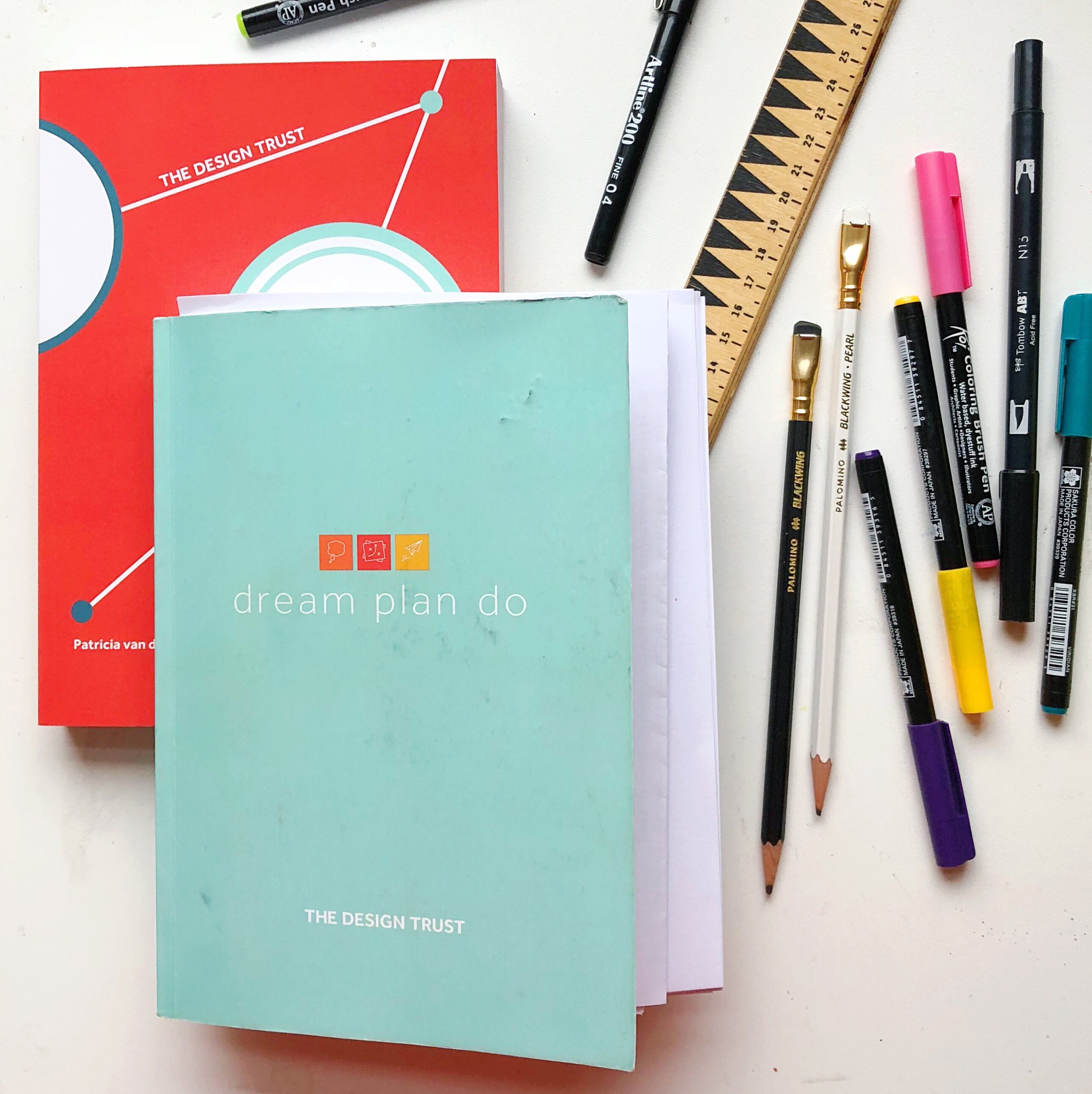 My very well thumbed planner (and my shiny new one!).