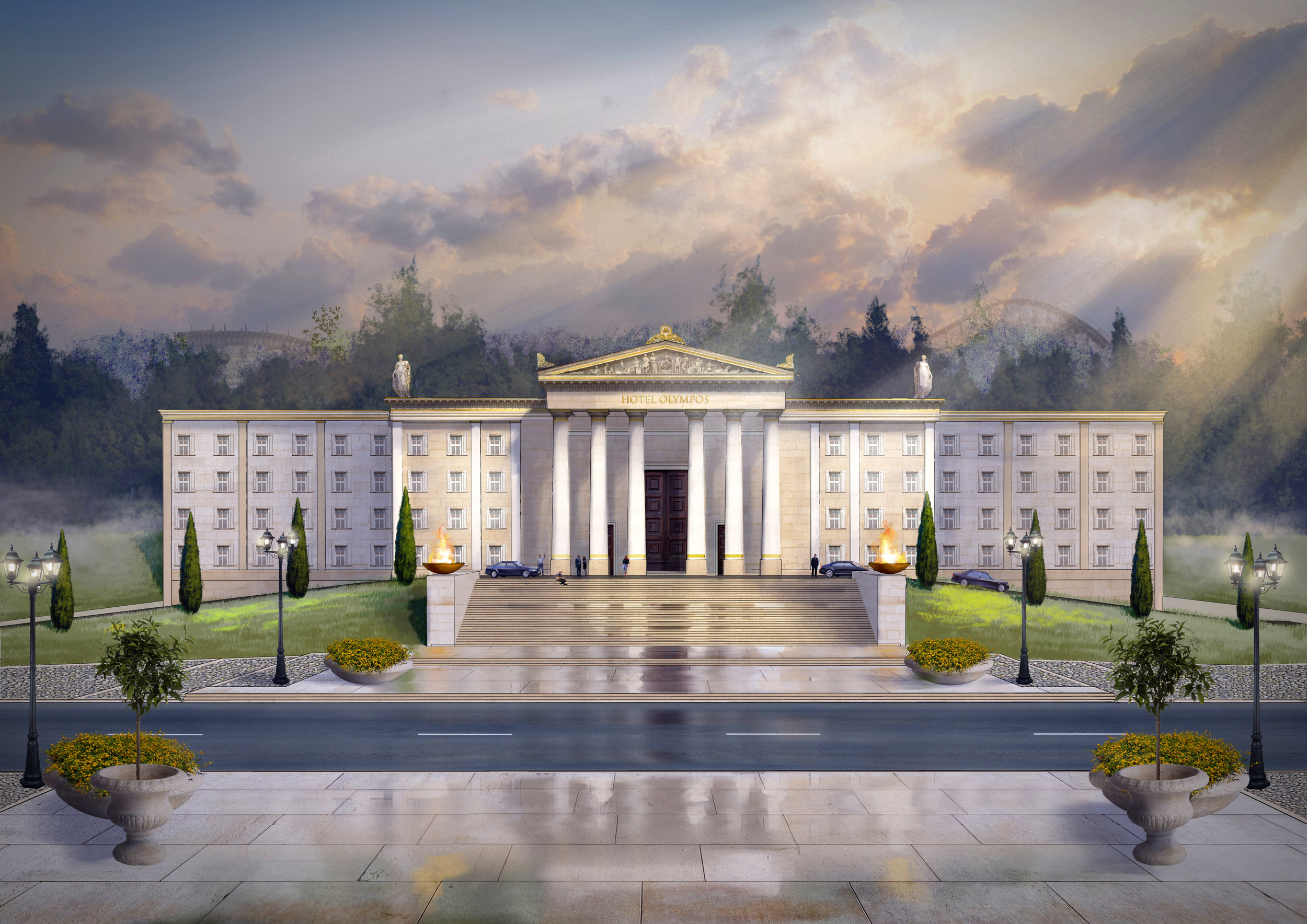 THEME PARK HOTEL CONCEPT <strong>| A concept for a mythical yet whimsical theme park hotel.</strong>