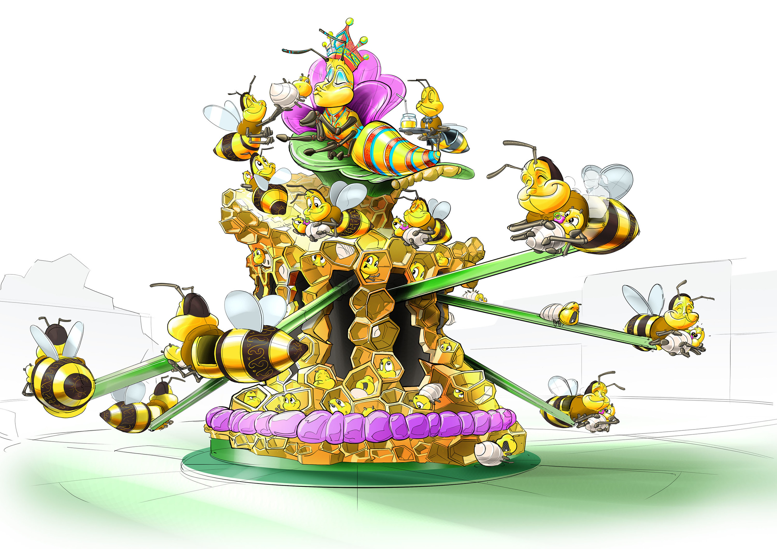 JUMBO FLIGHT WANDA HEFEI <strong>| Ride on the back of a bee and fly into a whimsical Chinese story.</strong>