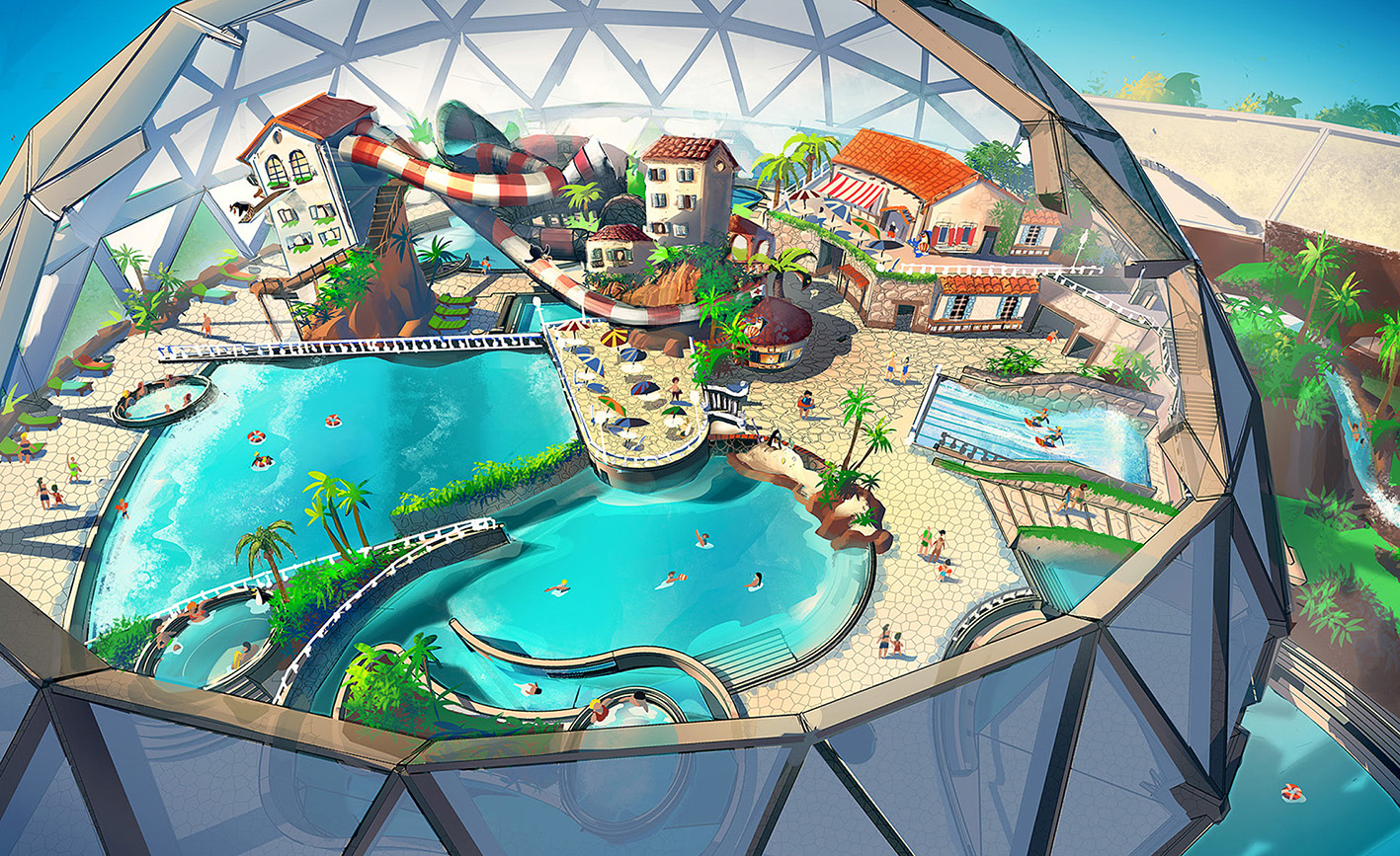 ADVENTURE WORLD WARSAW AQUA DOME  <strong>| A complete design for an indoor water park</strong>