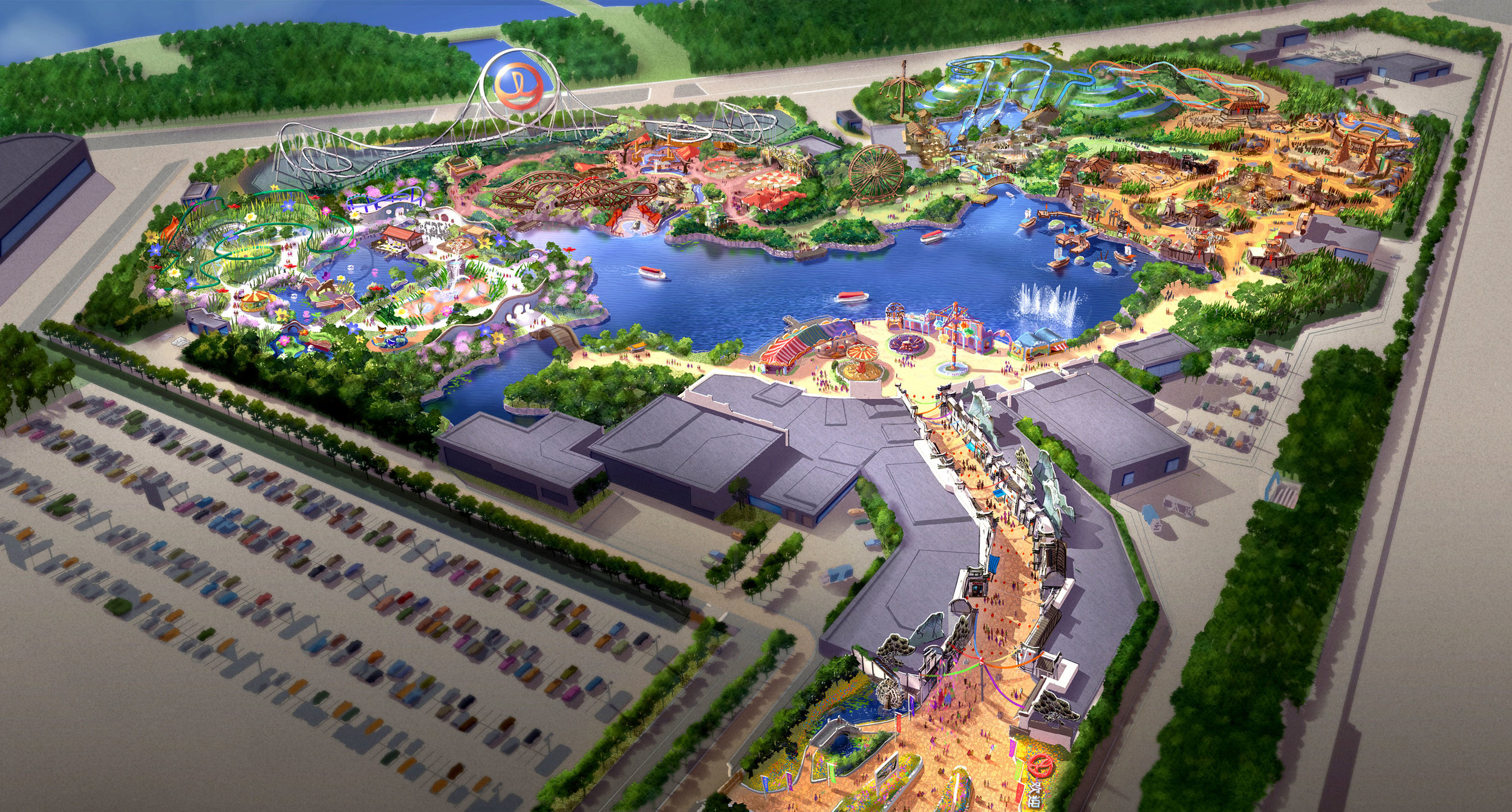 WANDA HEFEI THEME PARK <strong>| Complete design for a theme park resort in China</strong>