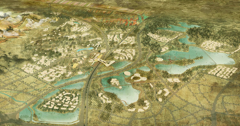 Land of giant Panda's area development