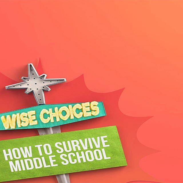 Middle school youth group is tonight! We're continuing our series on surviving and thriving in Middle School. Tonight: making wise choices. 6:30-8:30pm. See you there!