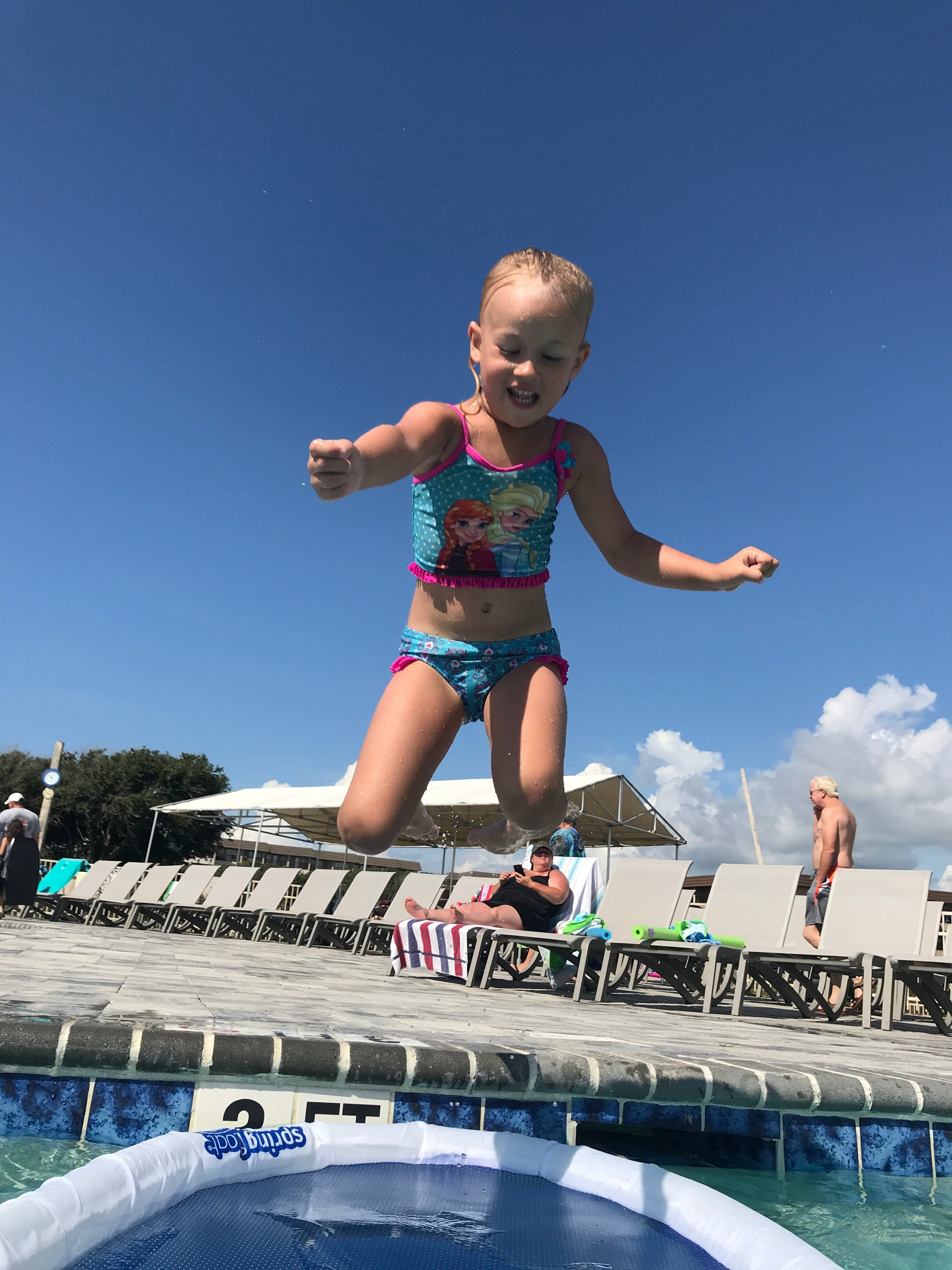 Memory Making Moments - This picture of my granddaughter is one of them; one of memory making moments! Summer vacation, jumping in the pool, laughing, staying up late to walk the beach. . . all fun memories.