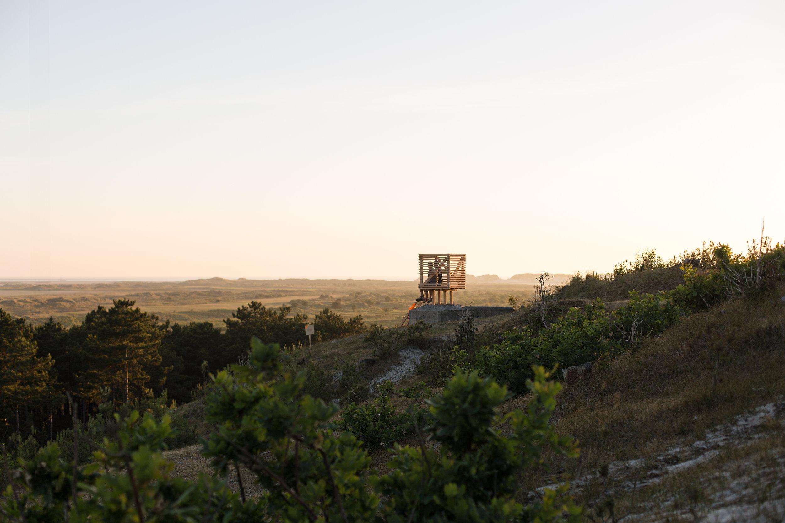 Een van de verblijfplaatsen op de bunkers