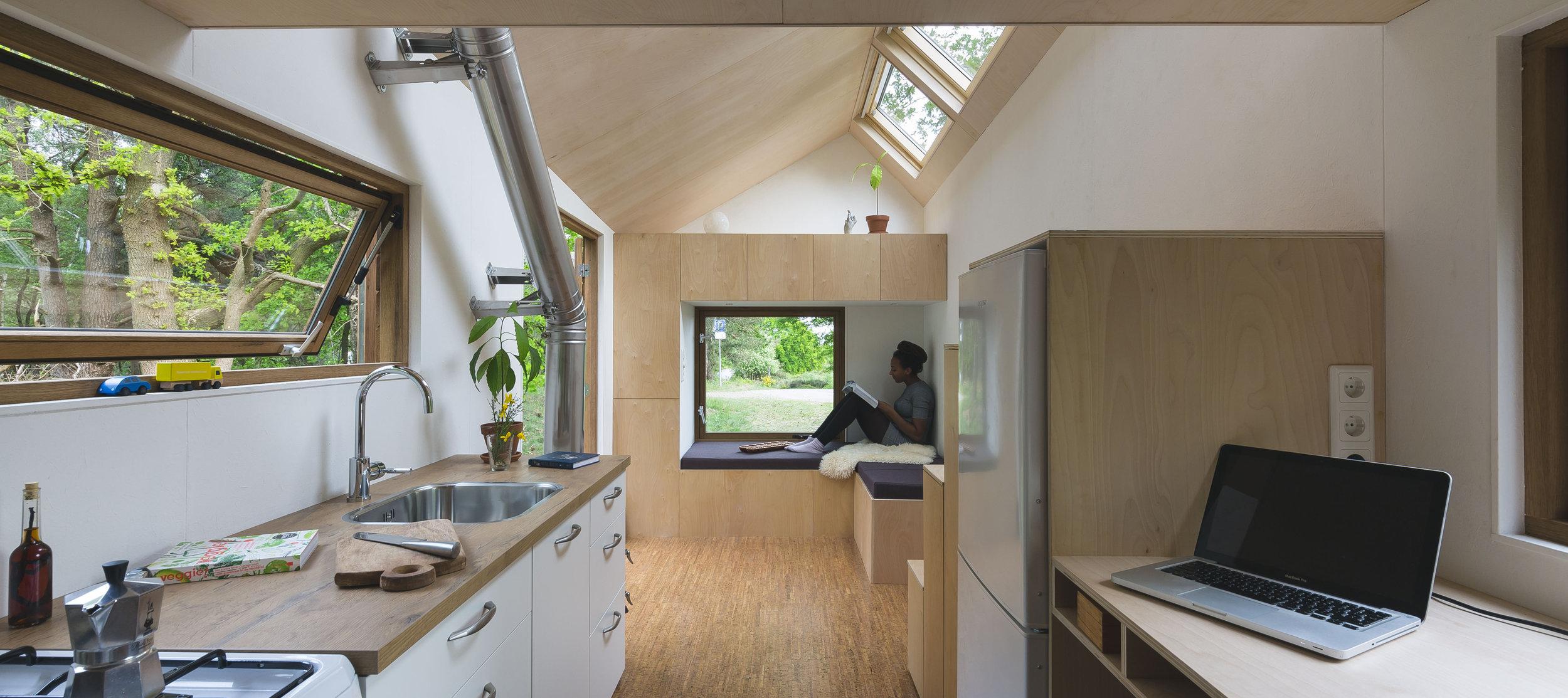 interior - walden tiny house