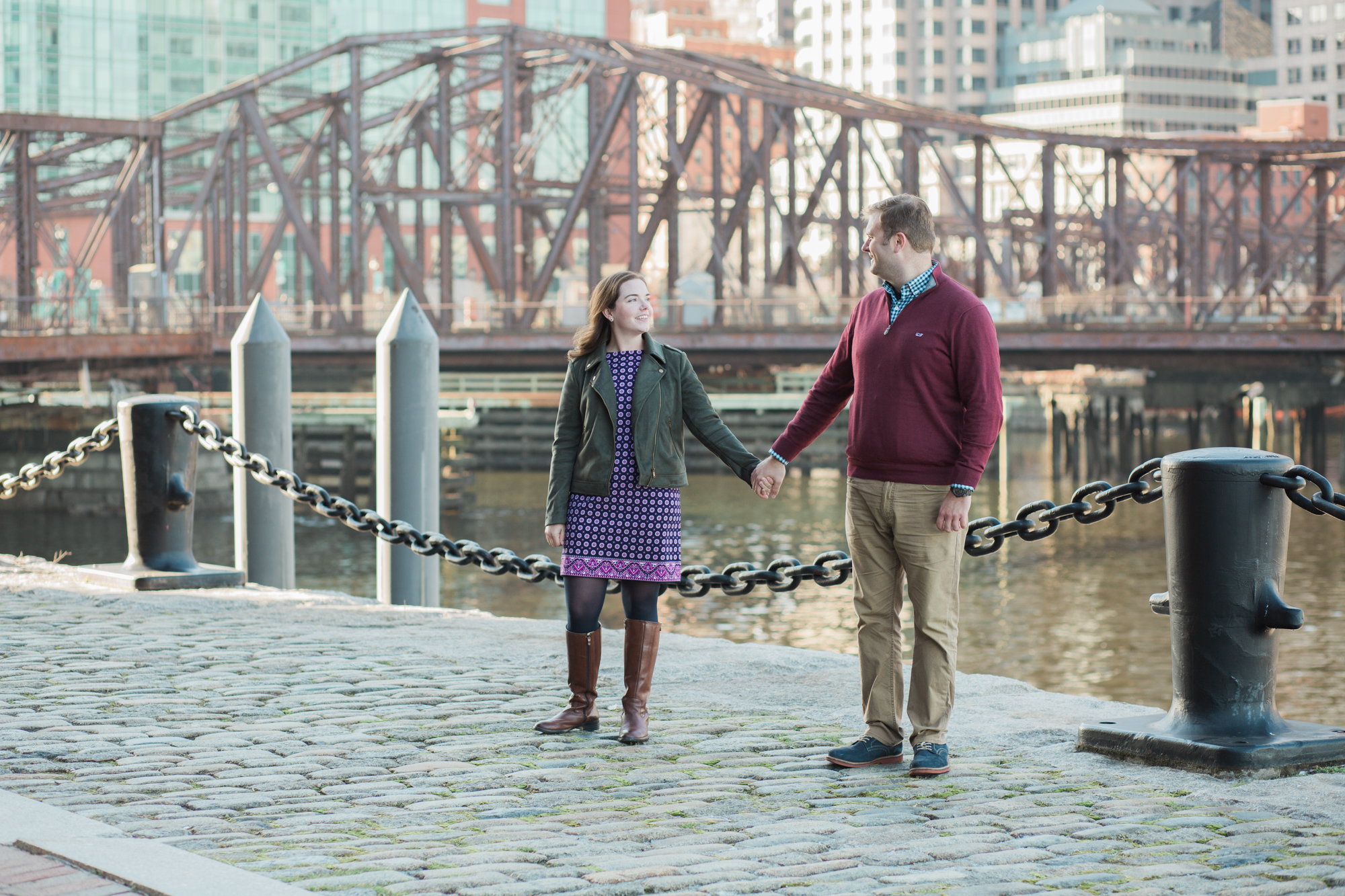 A peek at Maura and Jon's Fort Point engagement session.