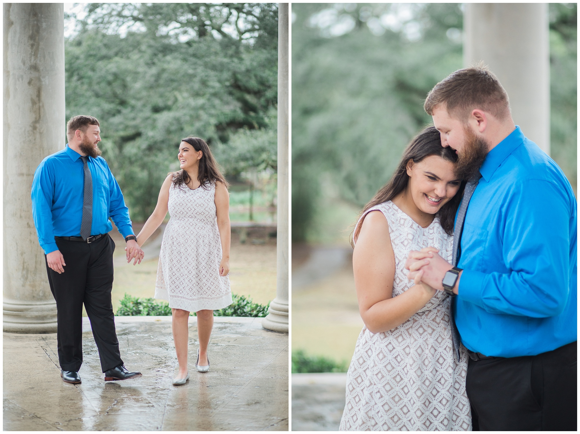 Click over to see more from this rainy, City Park engagement session.