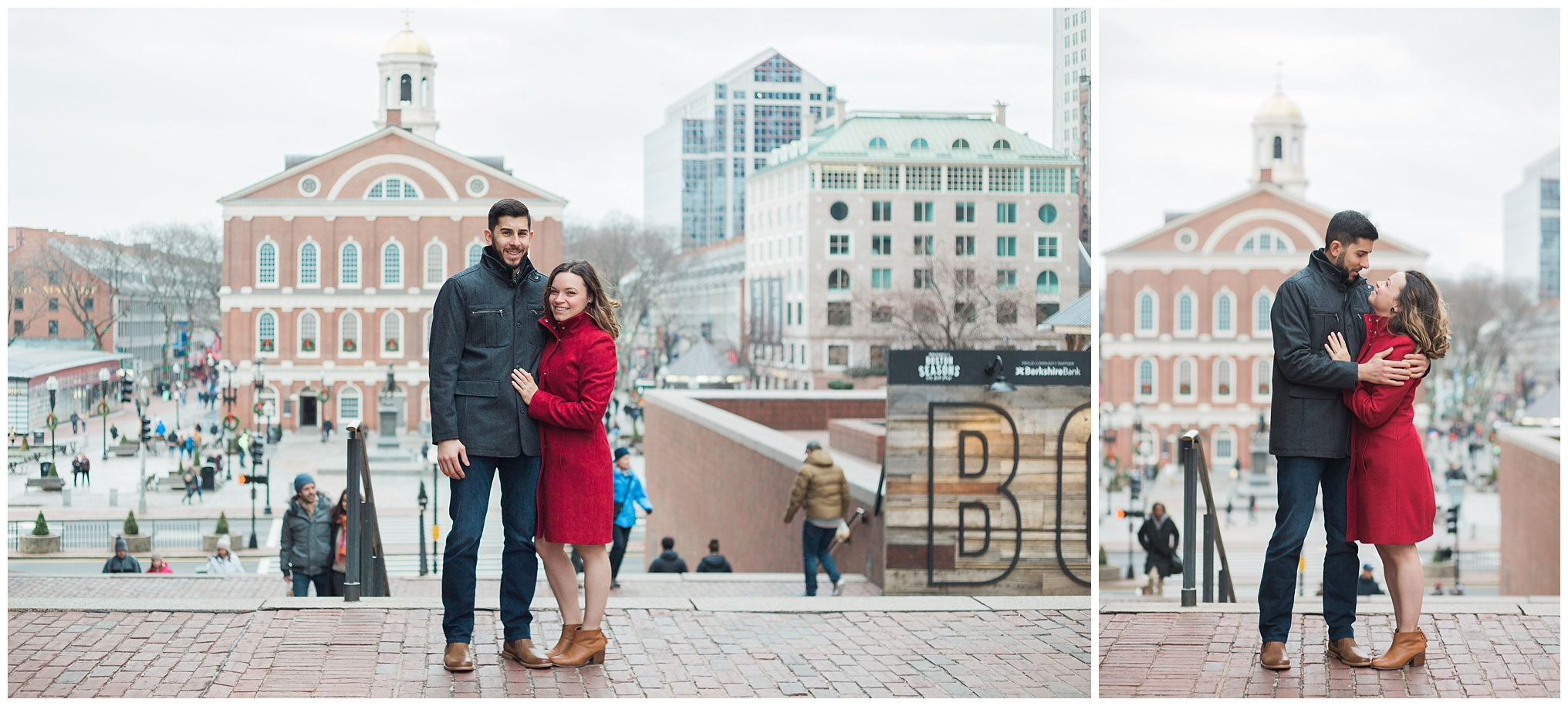 Click over to see more from this Boston cityscape engagement session.