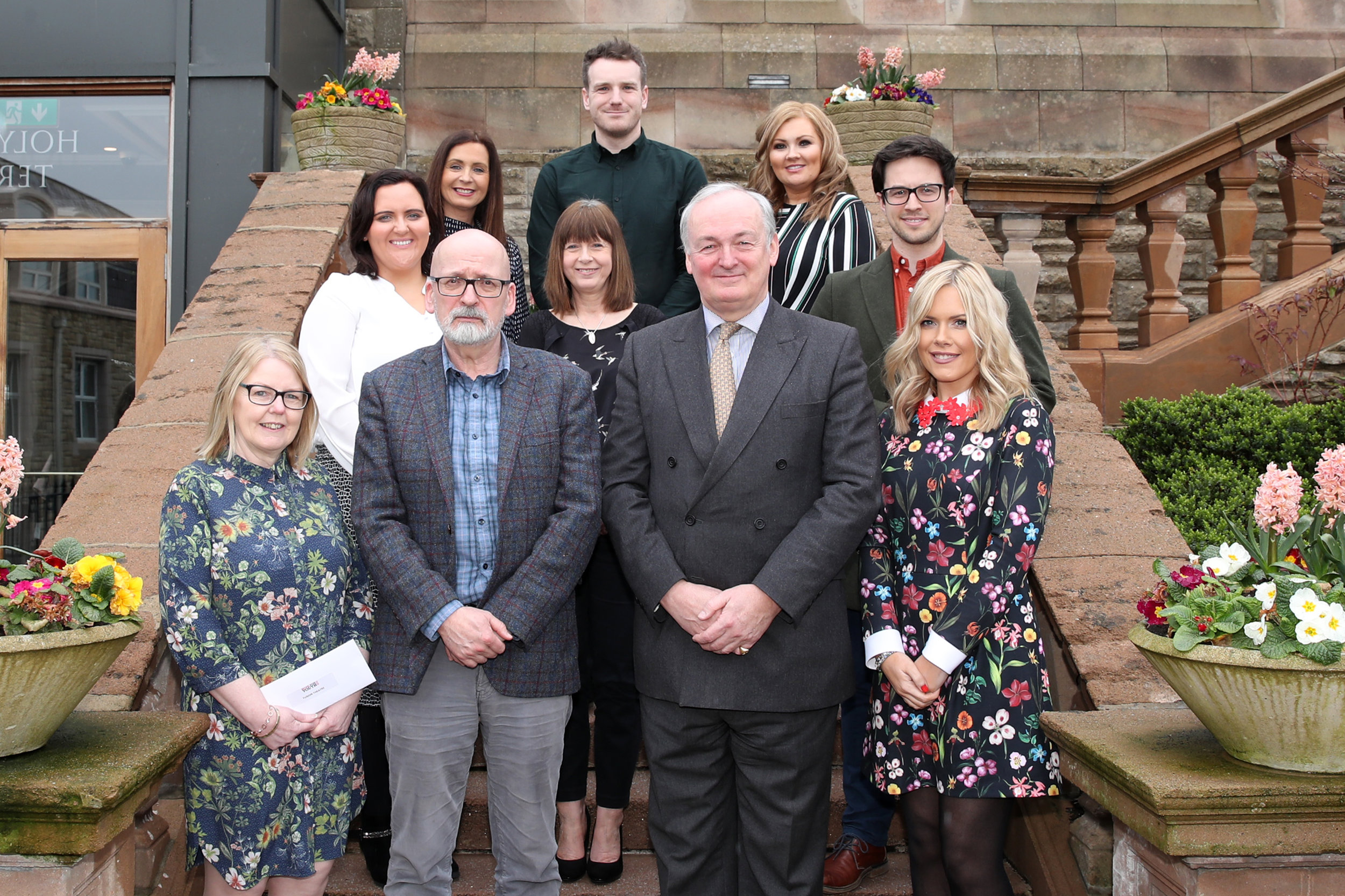 2019 Grant Recipients with Noel Lamb, Chairman and Roddy Doyle