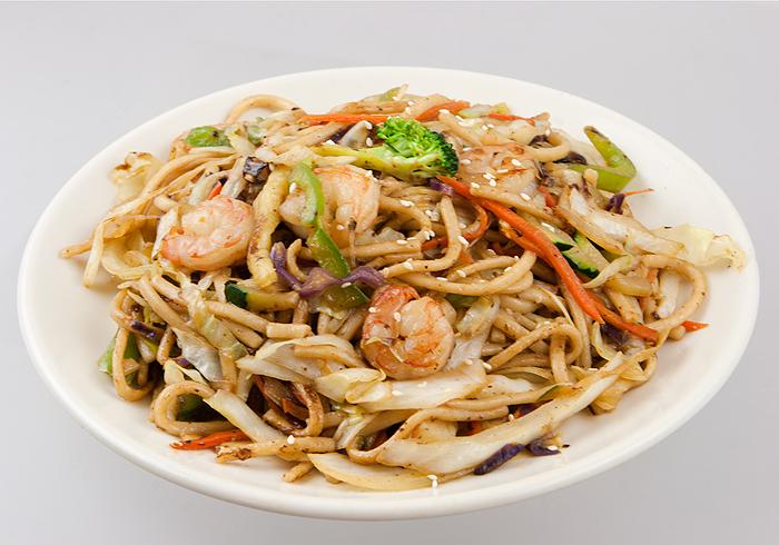 Yakiudon w/ Shrimp