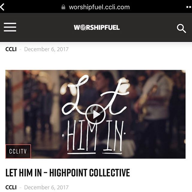The #LetHimIn music vids from @highpointcollective are up on @ccli.global ❤️🎄😍