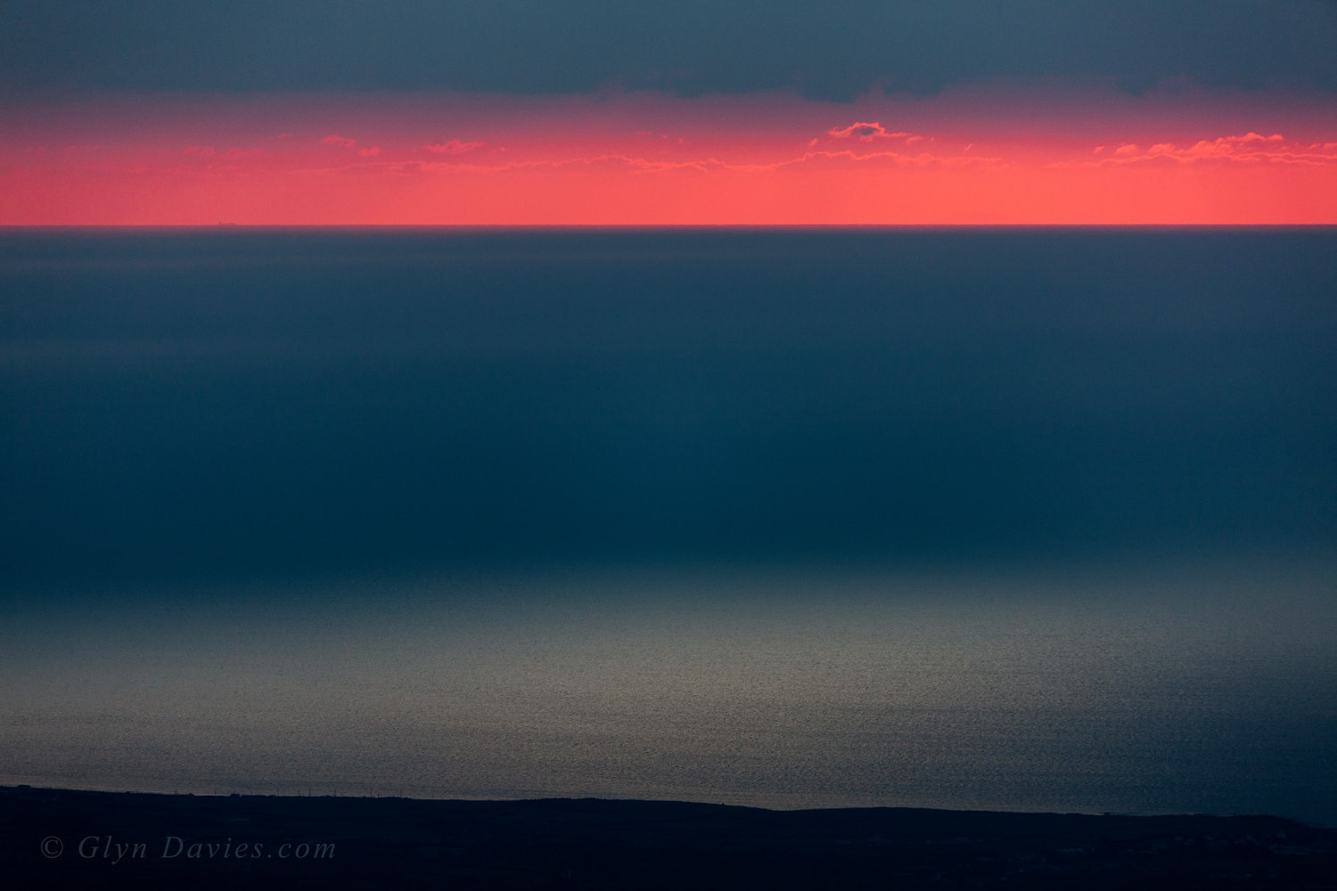 """Irish Pastels"" - Irish Sea at dusk, from the mountains of Snowdonia -  Canon 1DSmk3"