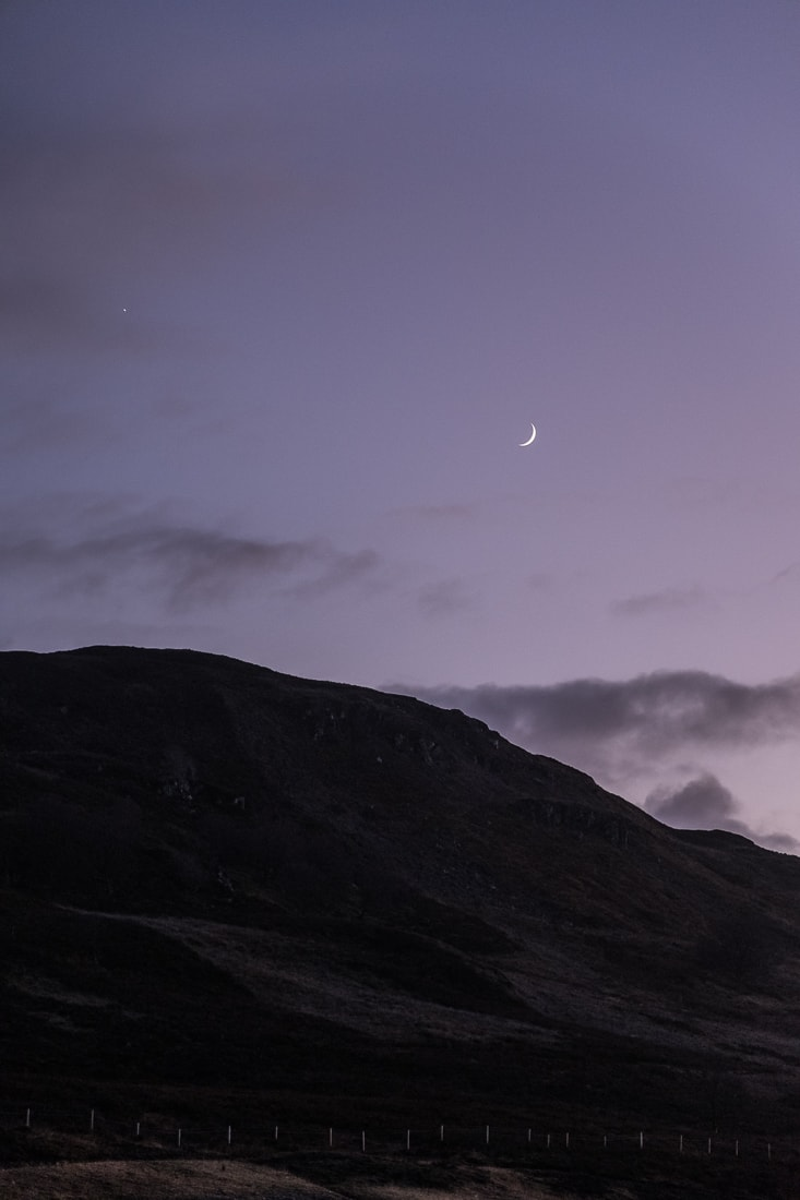 Moon over Loch Ness –  Fujifilm X-Pro2  &  XF16-55mm WR  (1/125sec, f2.8, ISO1600)