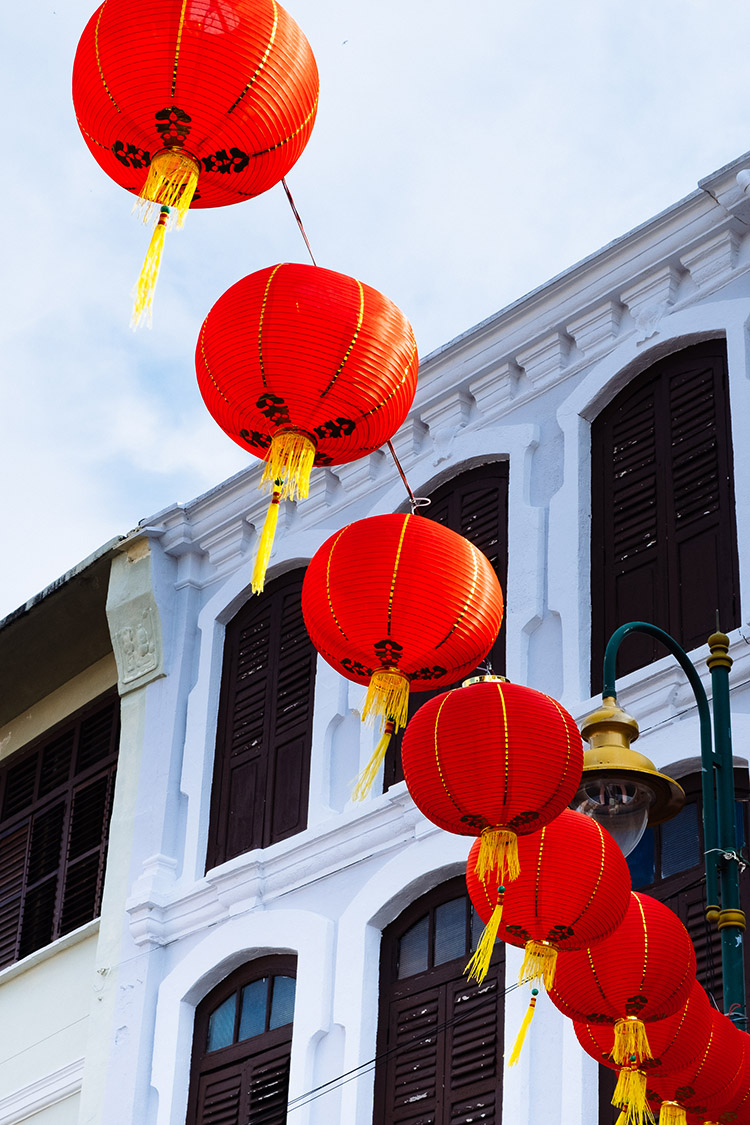 Chinese New Year decorations in Penang, Malaysia