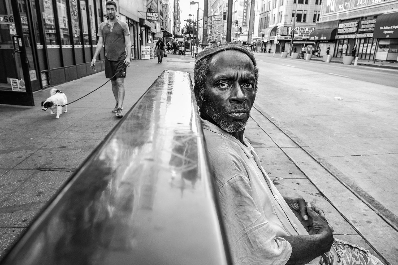 Street portrait on the fly in DTLA on Broadway.