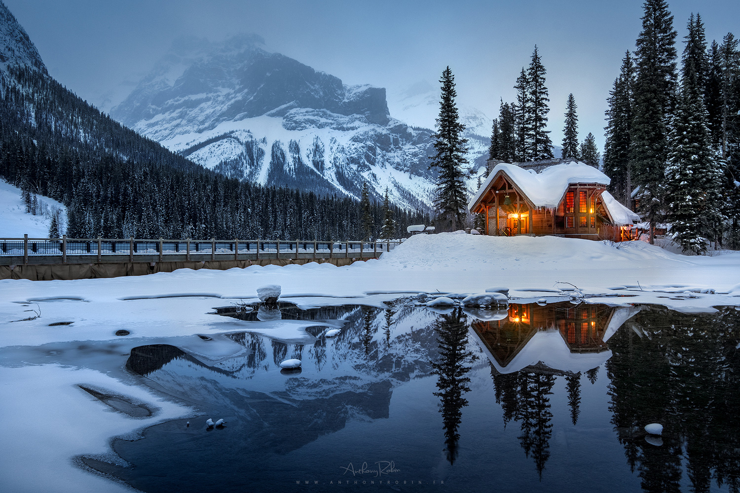 A winter in the Rockies, Canada.