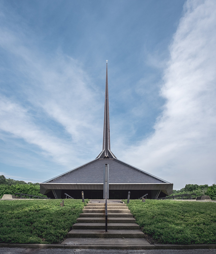 The North Christian Church in Columbus, IN.