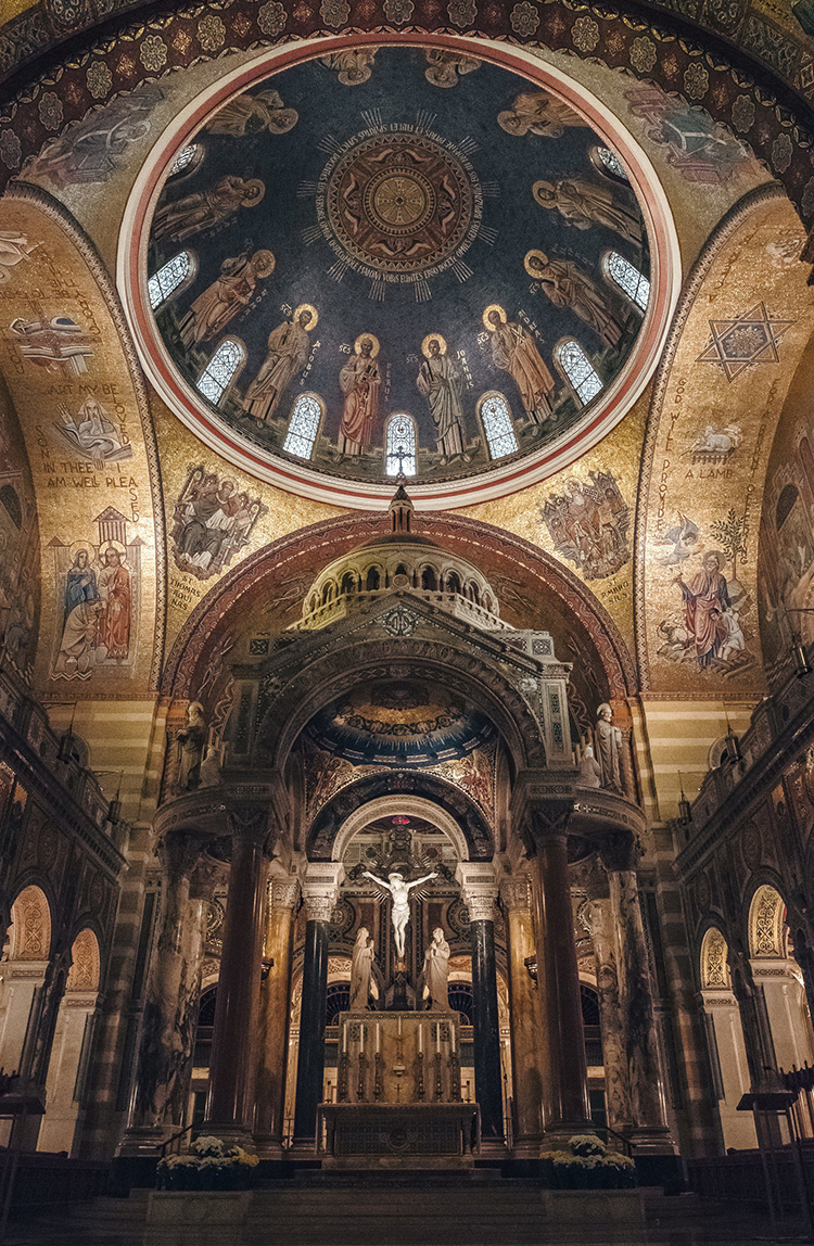 Cathedral Basilica of St Louis in St Louis, MO.