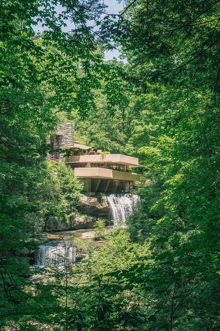 Fallingwater, Frank Lloyd Wright's masterpiece in Mill Run, PA