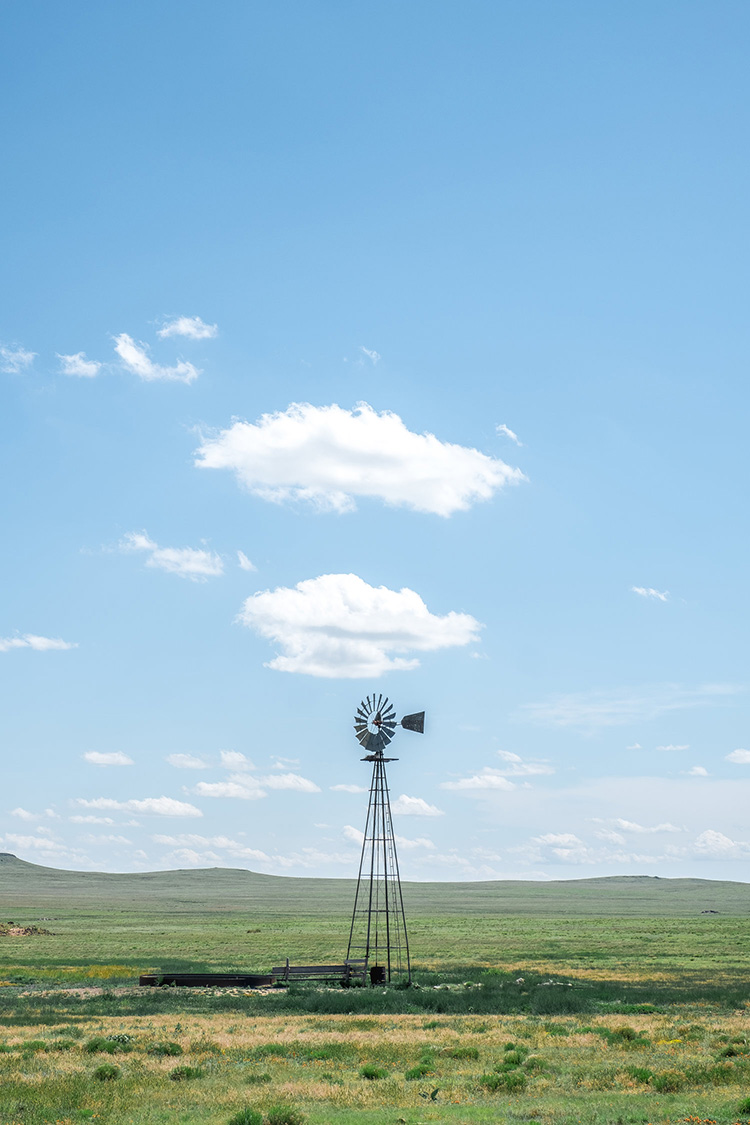 A windpump in the middle of New Mexico.