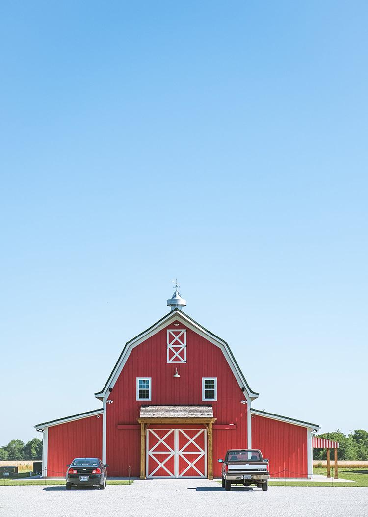 A red oak barn in Missouri.