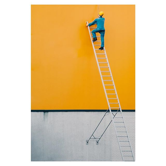 Photo: Moritz Schumacher @straightxlines Straight out of a miniature world, a perfect composition. I love how the hard hat matches the background. Moritz have been posting some great abstract and minimal photography over his Instagram account lately! Submissions are open (via email on fujifeed.com) #xt2 #xf56mm #fujifeed