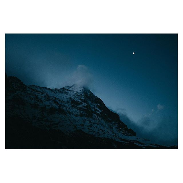 "Photo: Christopher Kahler @koacx ""The Eiger mountain at dawn"". The Eiger is a majestuous mountain part of the Swiss Bernese Alps. Christopher perfectly captured the atmosphere of the early morning, when you're packing up for a day of trekking/climbing. The silence around you, the wind in the trees. It's a magical feeling. I wish everyone to experience that in their life. Submissions to Fujifeed are open (via our website fujifeed.com) #xt2 #xf23mm #fujifeed"