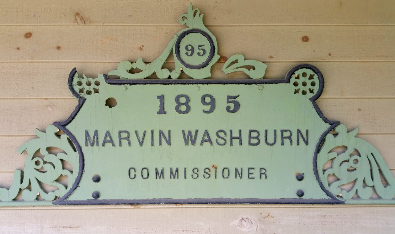 1895 Marvin Washburn Commissioner