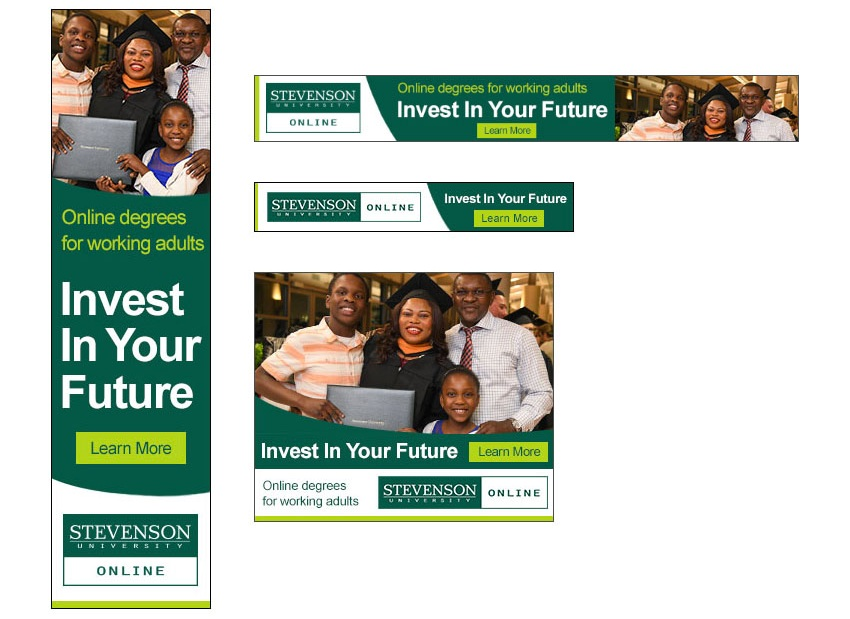 Stevenson University Online Display Ads