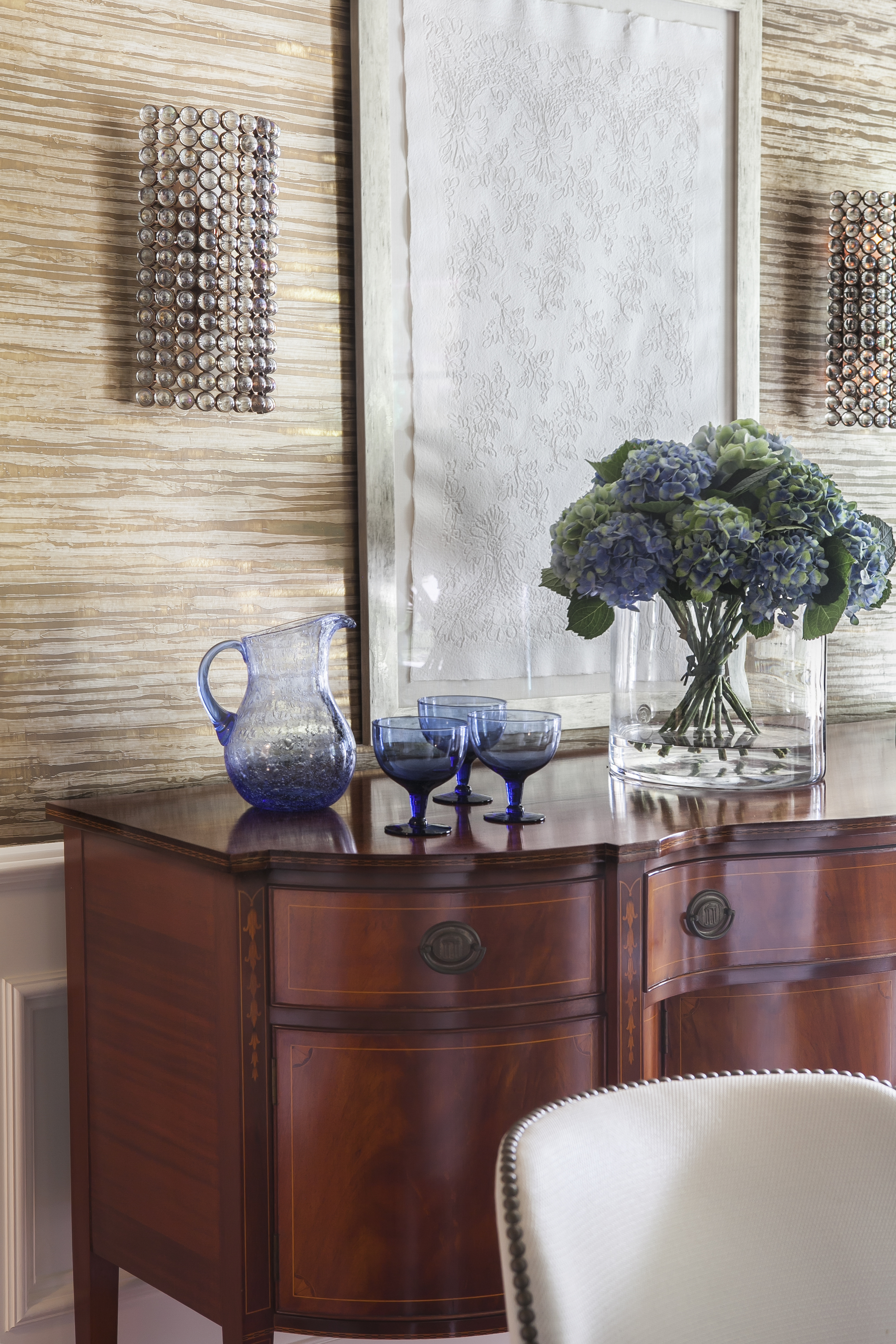 Armonk, NY, Finelines Interiors - Artwork by Wendy Shalen