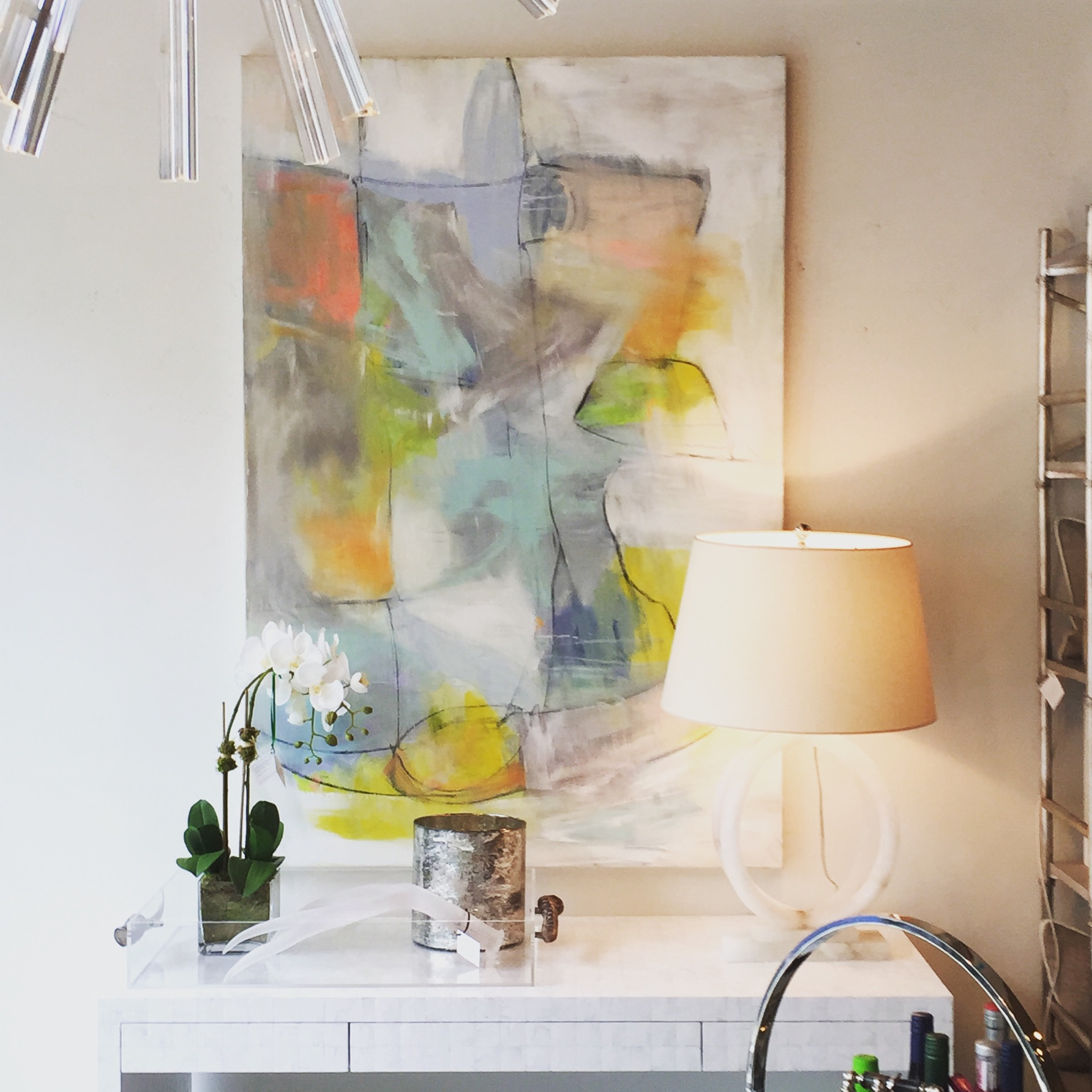 Nest Inspired Home, Rye, NY - Artwork by Kerri Rosenthal