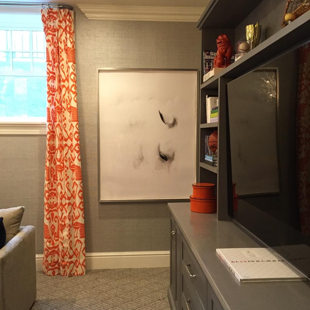 Westport, CT, Sam Allen Interiors - Artwork by Shelli Breidenbach Interiors