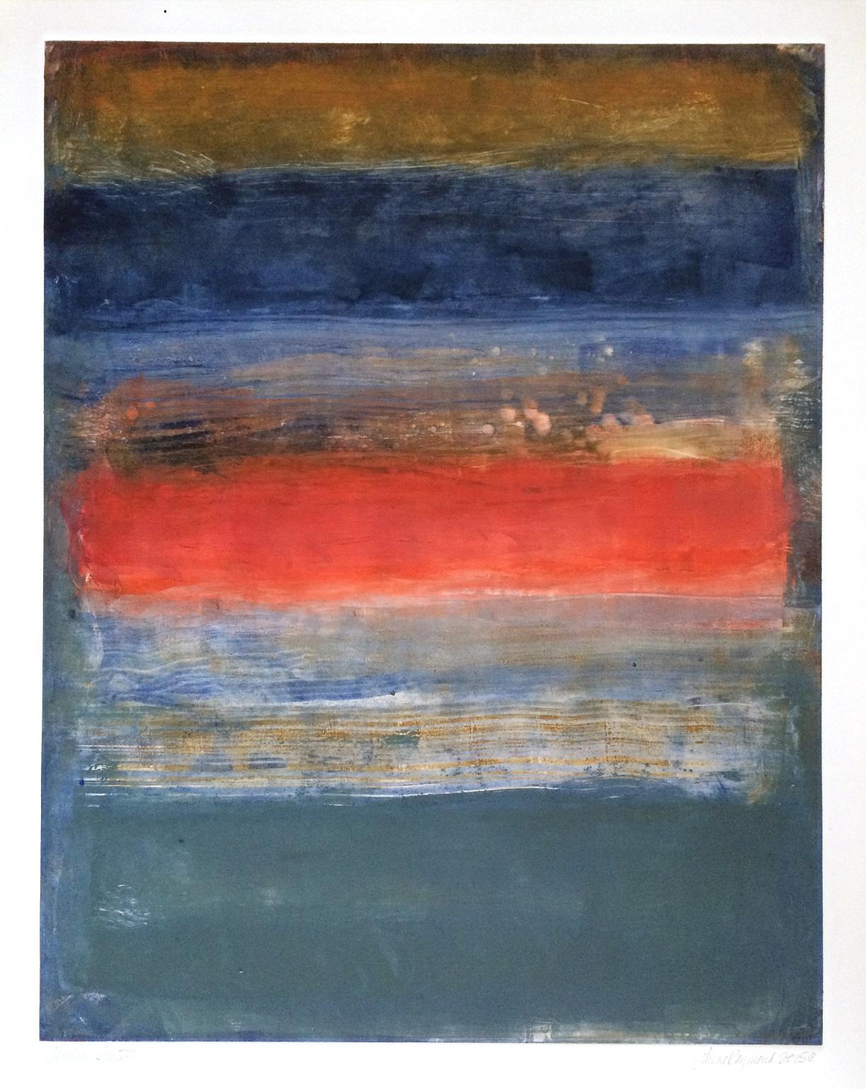 Cerulean Sea VII Mono 28 x 22