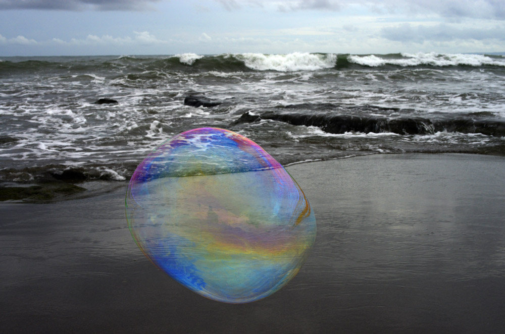Bubble with Breaking Waves Beyond