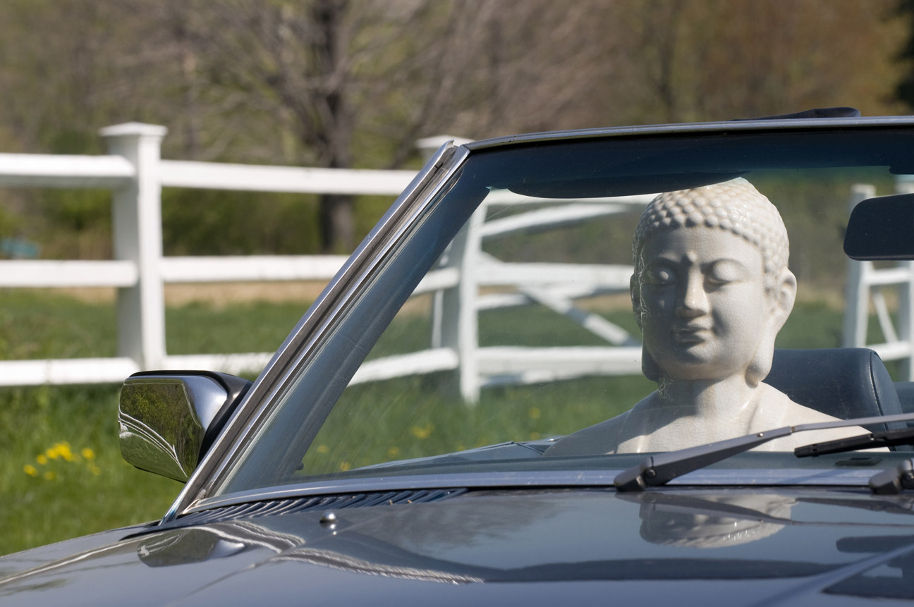 Buddha and Mercedes , by Kit Kittle Photography