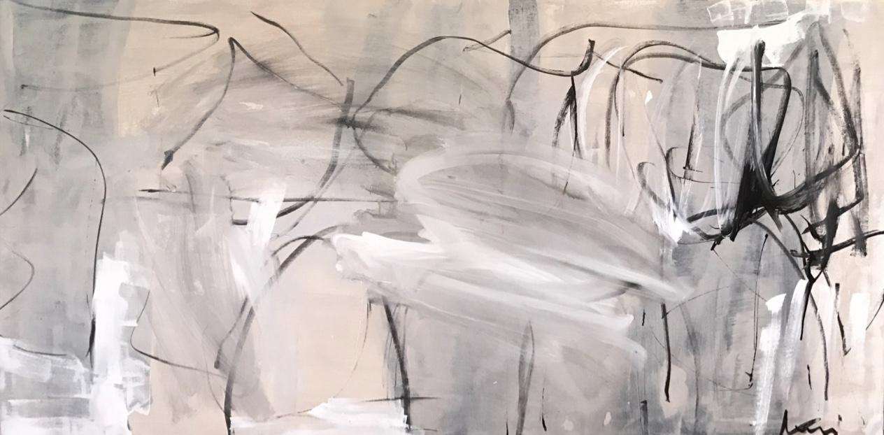 """COOKIES + MILK , 36""""x72"""", Kerri Rosenthal"""