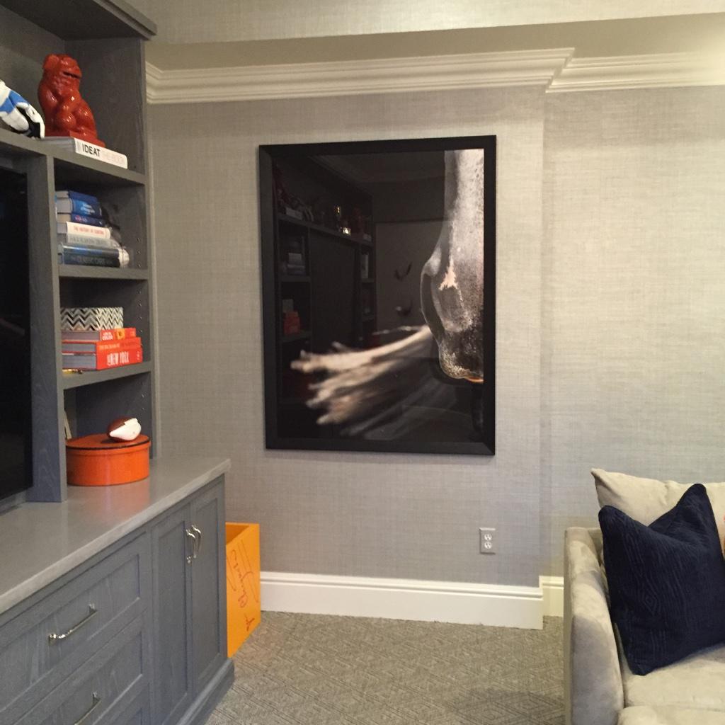 Photo by Shelli Breidenbach, Interiors by Sam Allen Interiors, Art Instlsllation by Romanoff Elements