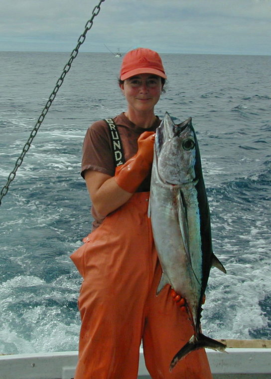 Laura with an Albacore Tuna