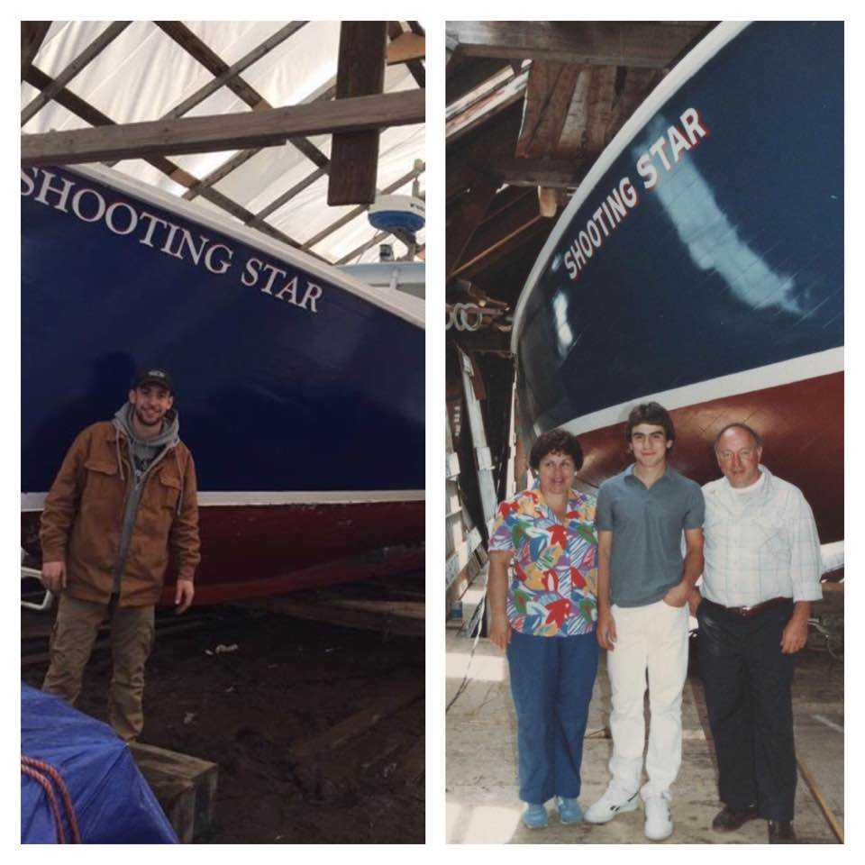 Tim Birarelli 2017                                    Joey Birarelli and parents, Jean & DIck 1987