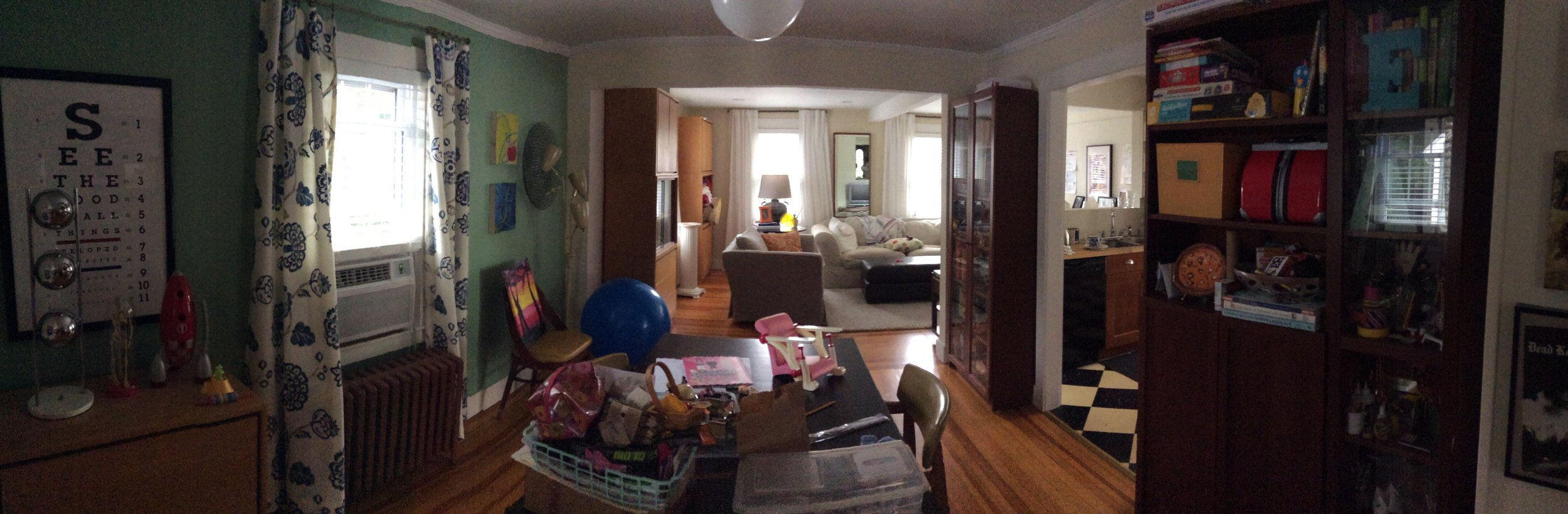Panoramic view of dining room