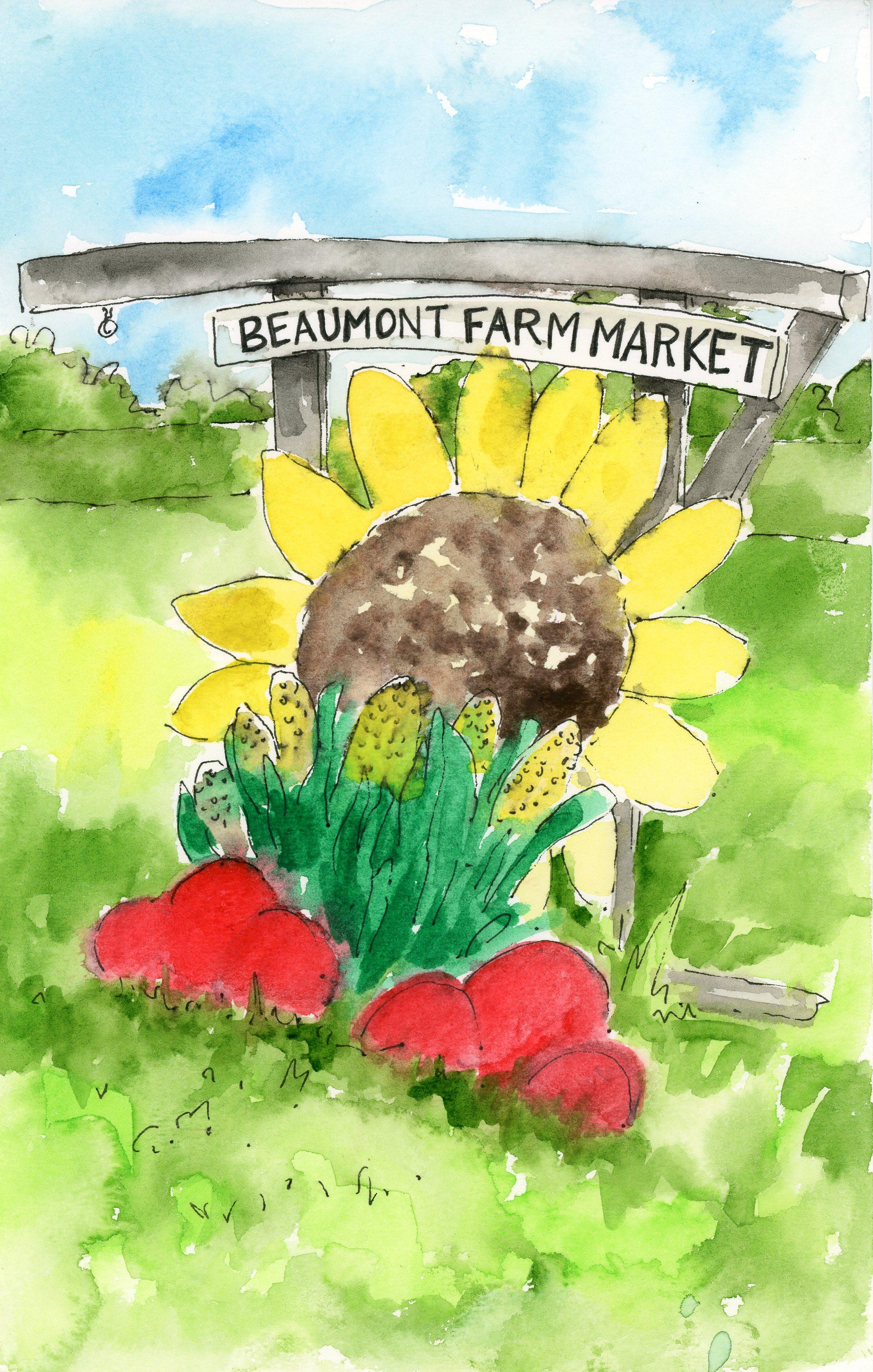 Beaumont's Farm Sign