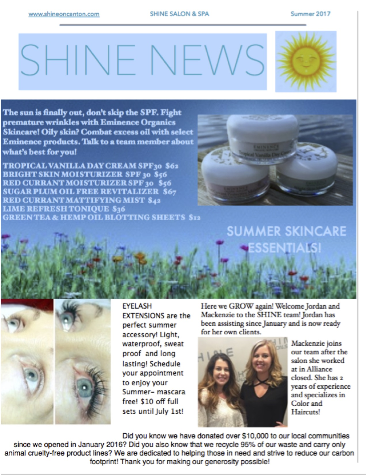 shine news summer