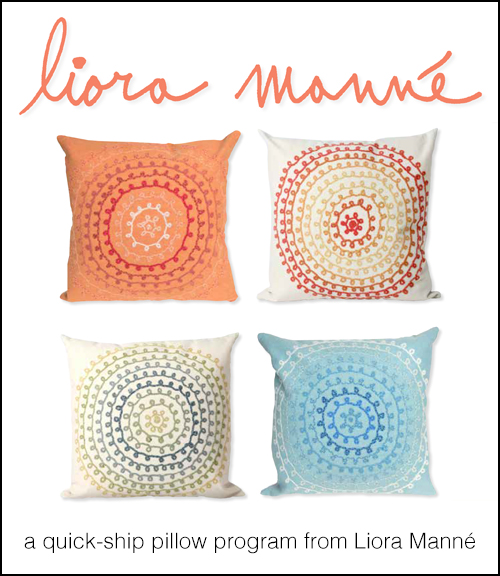 Click here for the    Quick Ship Pillows    catalog.    - Includes Liora Manné pillows available in larger quantities for quick shipment