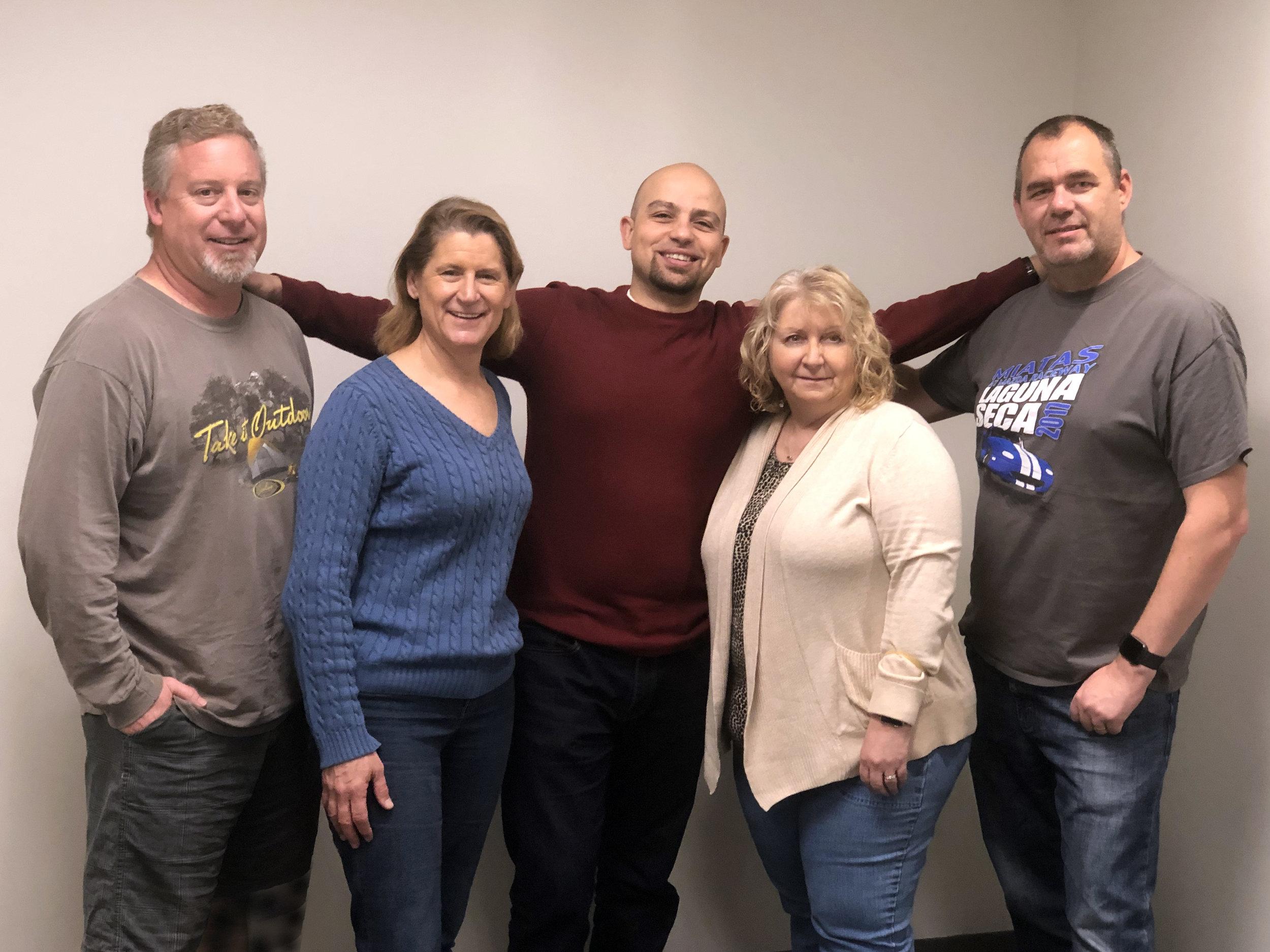 Left to right: Kirk, Paula, Gorkem, Susan, Gary