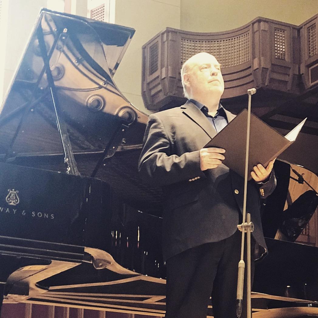 "Singing Leonard Bernstein's ""To what you said…"" in Seiji Ozawa Hall at Tanglewood, July 2018."