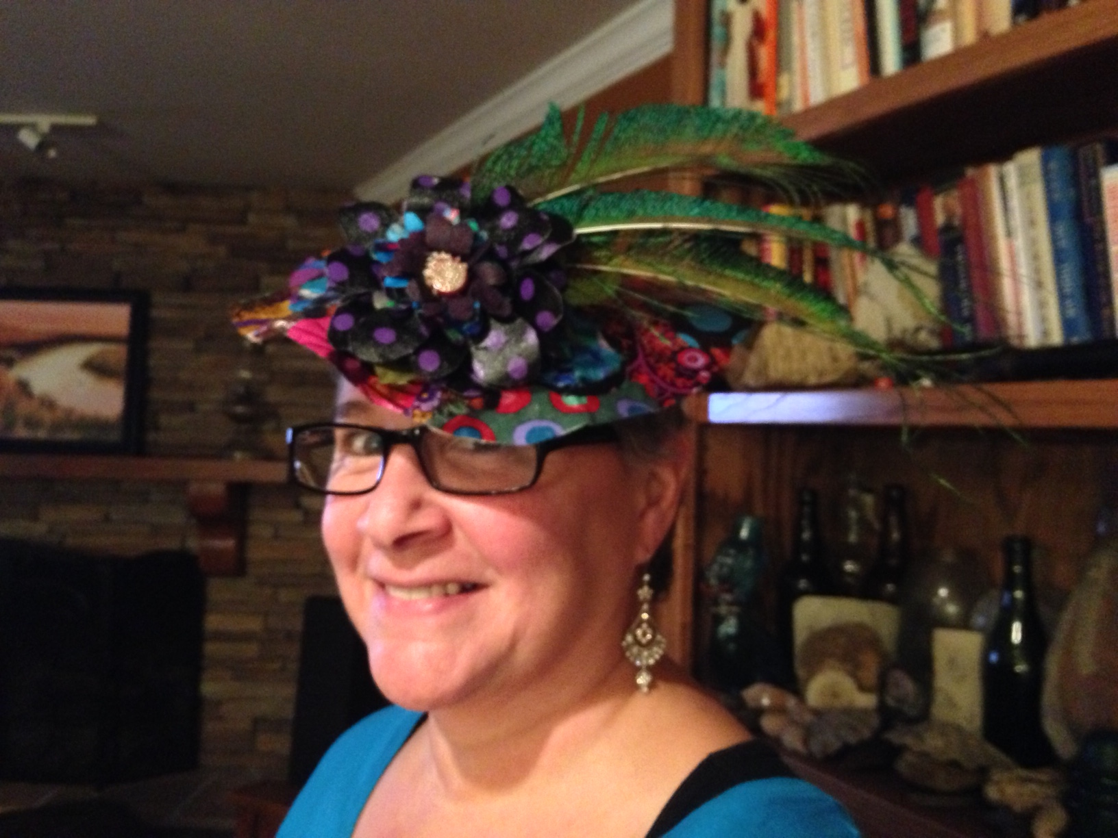 "If you see someone wearing one of these little hats, you know they are your ""tribe.""  Do you think I looked like a suffragette? :D"